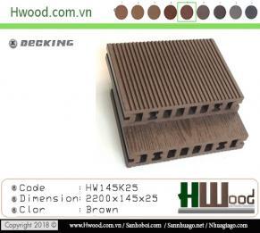 sàn gỗ ngoài trời Hwood HW145*K25