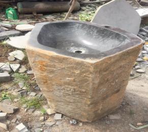 Chậu đá có chân nguyên khối HCD - Y01