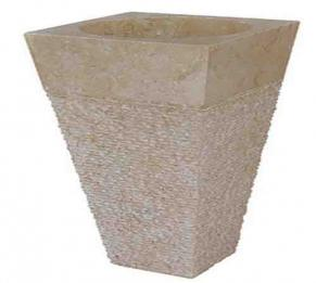Chậu đá có chân nguyên khối HCD - Y08