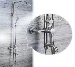 Sen cây tắm đứng tròn inox 304 HCS - S010
