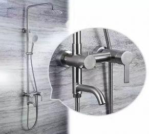 Sen cây tắm đứng tròn inox 304 HCS - S011