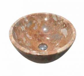 Lavabo đá tự nhiên màu hồng HCD - BST09