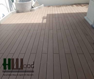 Sàn gỗ nhựa ngoài trời siêu chịu nước Malaysia